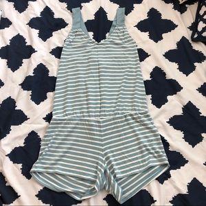 GAP Body Sleepwear Pajamas Striped Romper Sz S